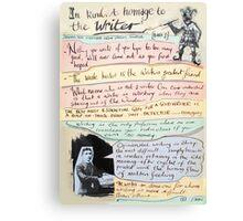 writers homage #1 Canvas Print