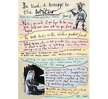 writers homage #1 Photographic Print