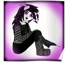 Little Purple Goth Girl Poster