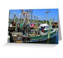 Fishing Trawler at the Docks at Point Judith, RI [7] Greeting Card