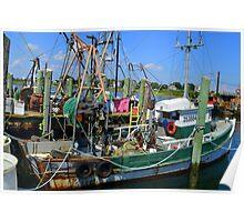 Fishing Trawler at the Docks at Point Judith, RI [7] Poster