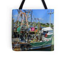 Fishing Trawler at the Docks at Point Judith, RI [7] Tote Bag