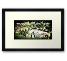 """PRBA: Professional Redneck Bowler's Association""... prints and products Framed Print"