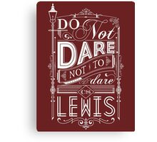 Lewis Typography Canvas Print