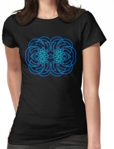 Blue Tribal Curves (Landscape) Womens Fitted T-Shirt
