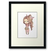 Chibi kawaii Aerith  Framed Print
