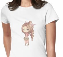 Chibi kawaii Aerith  Womens Fitted T-Shirt