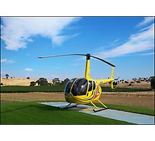 Helicopter Riding High Photographic Print