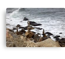 The Rocky Shore At Point Judith, RI Lighthouse [9] Canvas Print