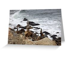 The Rocky Shore At Point Judith, RI Lighthouse [9] Greeting Card