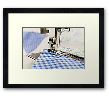 Sewing Blue Bunting  Framed Print