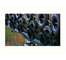 Wheels in Water - Wharf in Norway Art Print