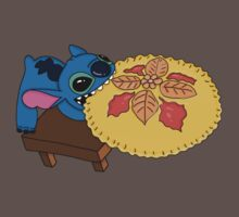 Stitch eating pie Kids Clothes