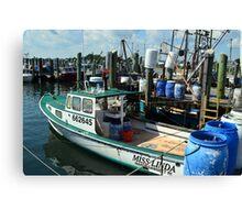 Lobster Boat at Point Judith, RI [10] Canvas Print