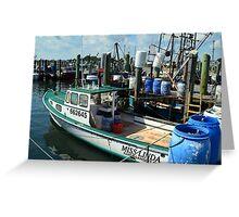 Lobster Boat at Point Judith, RI [10] Greeting Card
