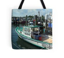Lobster Boat at Point Judith, RI [10] Tote Bag