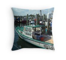 Lobster Boat at Point Judith, RI [10] Throw Pillow
