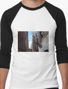Downtown Spokane Washington Men's Baseball ¾ T-Shirt