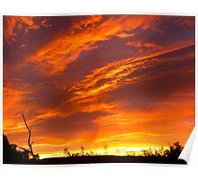 Stormy sunrise - Johanna Beach, Victoria Poster