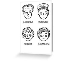 Cabin Pressure portraits Greeting Card