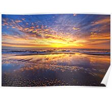 Mirror Sunset Callantsoog Poster