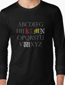 Death Note Alphabet Long Sleeve T-Shirt