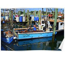 Small Fishing Trawler at Point Judith, RI [11] Poster