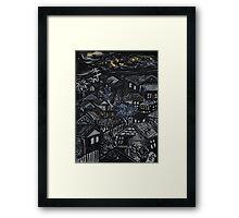 Wonky Windows - Windy Night Framed Print