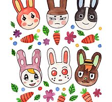 Bunny Villagers by Jazmine Phillips