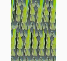 texture and background of colorful feathers of a parrot green Unisex T-Shirt