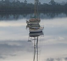 Houn boat reflection by Paul Campbell  Photography