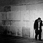 Man With A Plastic Bag by Mojca Savicki