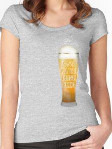 Drink Beer Women's Fitted Scoop T-Shirt