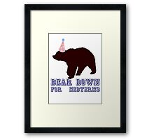 Bear Down For Midterms Framed Print