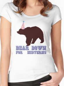 Bear Down For Midterms Women's Fitted Scoop T-Shirt