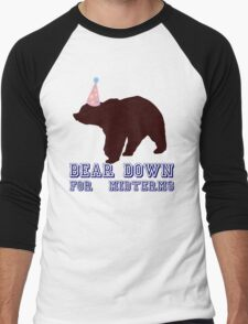 Bear Down For Midterms Men's Baseball ¾ T-Shirt