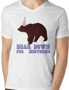 Bear Down For Midterms Mens V-Neck T-Shirt