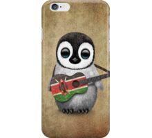 Baby Penguin Playing Kenyan Flag Guitar iPhone Case/Skin