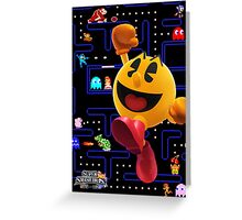 Pac-Man Hungers for Battle! Greeting Card