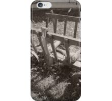 Cart (black and white) iPhone Case/Skin