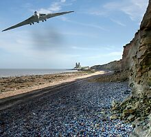 Vulcan Over Reculver by Dave Godden
