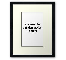 kian cute Framed Print