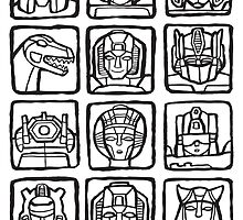 Transformers Rogue Gallery by ghostgoose