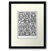 Transformers Rogue Gallery Framed Print