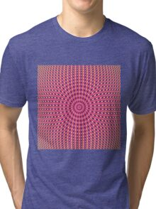 Pink Blue Orange and Yellow Rings Tri-blend T-Shirt