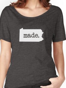 Pennsylvania Made Born PA Pride  Women's Relaxed Fit T-Shirt