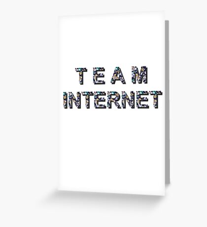 team internet flowers Greeting Card