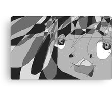What's Black and White and Grey all over? Canvas Print
