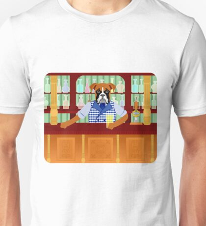 Boxer Dog Beer Pub Unisex T-Shirt