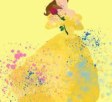 Disney // Belle Watercolor by JayLenosChin